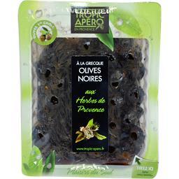 Tropic Apéro Olives noires à la grecque aux herbes de Provence la barquette de 250 g