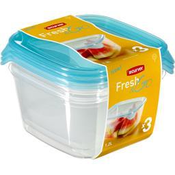 Boites hermétiques carrées Fresh'n Go 1,2 l