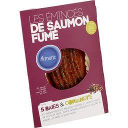 Les Emincés de saumon fumé 5 baies & coriandre