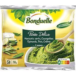 Bonduelle Purée Délice - Purée haricots verts courgettes épina...