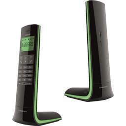 Téléphone Dect Luxia 150 main libre solo noir liseré vert