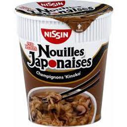 Nissin Nissin Soupe nouilles japonaises champignons 'Kinoko' le pot de 64 g