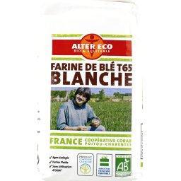 Farine de blé blanche BIO T65 de France