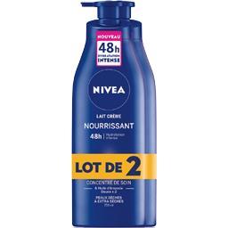 Nivea Nivea Lait crème nourrissant huile amande douce peaux extra sèches les 2 flacons de 250 ml
