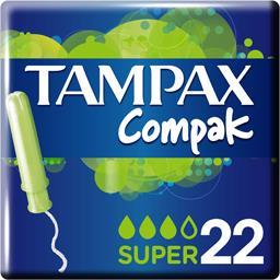 Tampax Tampax Compak - Tampons Super avec applicateur la boite de 22