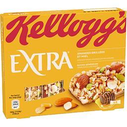 Kellogg's Kellogg's Extra - Barre généreuse amandes grillées et miel les 4 barres de 32 g
