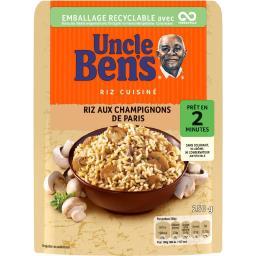 Uncle Ben's Uncle Ben's Riz aux champignons de Paris le paquet de 250 g