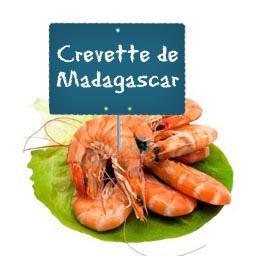 CREVETTES calibre 40/60 roses entières de MADAGASCAR cuites