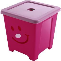 Cube de rangement Happystore 36 l rose fuschia