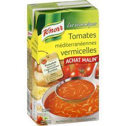 Soupe tomates méditerranéennes vermicelles