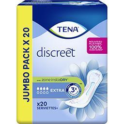 Tena Tena Serviettes discreet extra jumbo le paquet de 20 serviettes