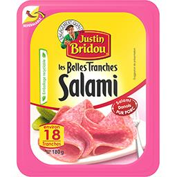 Justin Bridou Justin Bridou Les Belles Tranches salami la barquette de 18 tranches - 180 g