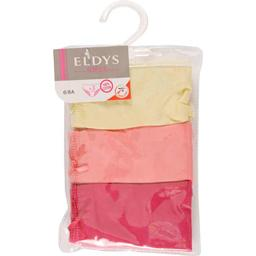 Slips rouge/corail/jaune fille, 4/5 ans