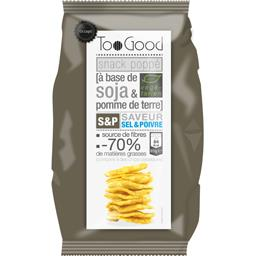 TooGood TooGood Snack Poppé soja & pomme de terre saveur sel & poivre le sachet de 85 g