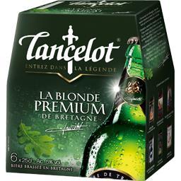 Bière LANCELOT premium 5° pack 6x25cl