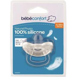 Sucettes Natural Physio100% silicone, 6-18m