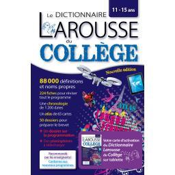 Le dictionnaire larousse du collège, avec carte d'activation pour tablette