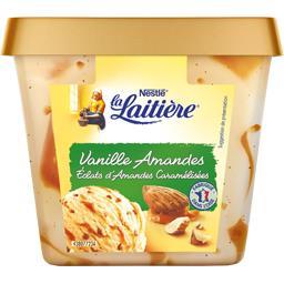 Crème glacée vanille amandes éclats d'amandes caramélisées
