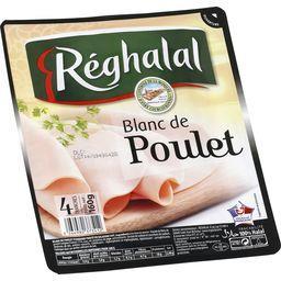 Reghalal Réghalal Blanc de poulet halal la barquette de 4 tranches - 160 g