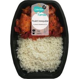 Poulet basquaise au piment d'Espelette et riz