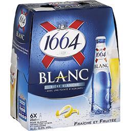 1664 Kronembourg 1664 Bière blanche avec une pointe d'agrumes les 6 bouteilles de 25 cl