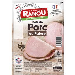 Monique Ranou Mon Rôti de porc au poivre la barquette de 4 tranches - 160 g