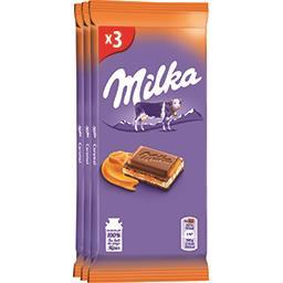 Milka Milka Chocolat caramel les 3 tablettes de 100 g