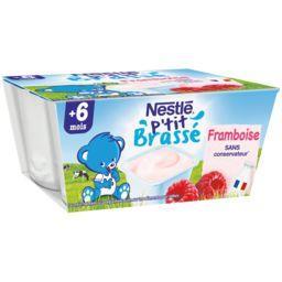 P'tit Brassé - Dessert framboise, 6+ mois