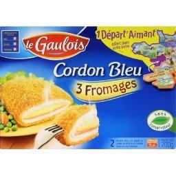 Cordon bleu 3 fromages, 1 départ'aimant,LE GAULOIS,200g