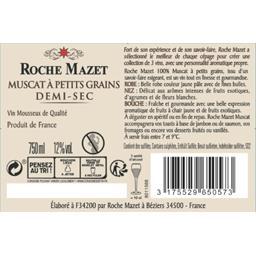 Roche Mazet Roche Mazet Vin mousseux Muscat demi-sec la bouteille de 70 cl