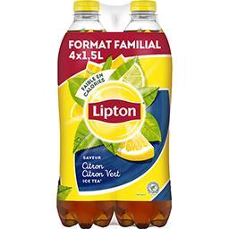 Lipton Lipton Ice Tea - Boisson saveur citron citron vert les 4 bouteilles de 1,5 l - Format Familial