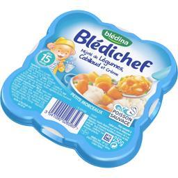 Mijoté de légumes, cabillaud et crème ,BLEDINA,l'assiette de 250g