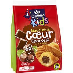 Ker Cadélac Ker Cadelac Kids - Madeleine cœur chocolat le paquet de 12 - 420 g