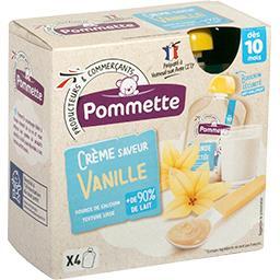 Crème saveur vanille, dès 10 mois