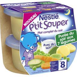 P'tit Souper - Plat du soir purée aux 7 légumes, 8+ mois