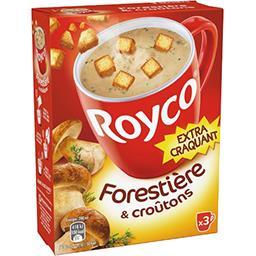 Royco Royco Soupe forestière & croûtons les 3 sachets de 19,4 g