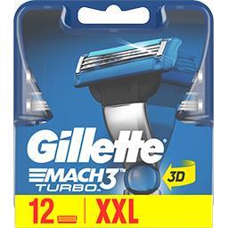Gillette Gillette Lames de rasoir pour homme Mach3 Turbo La boite de 12 lames