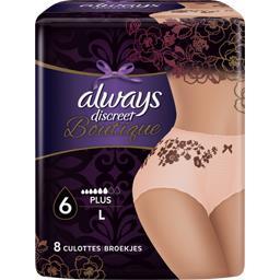 Culottes fuites urinaires taille L - Boutique