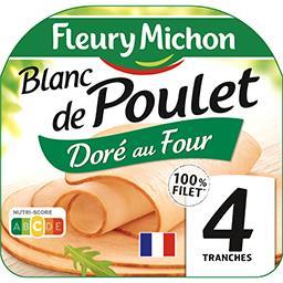 Fleury Michon Fleury Michon Blanc de poulet doré au four la barquette de 4 tranches - 160 g