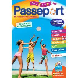 Passeport de la 5ème à la 4ème - nouveaux programmes