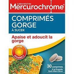 Mercurochrome Mercurochrome Comprimés gorge à sucer thym vitamine C la boite de 30 - 21,4 g