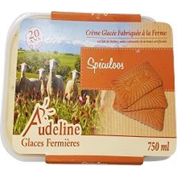 Audeline Crème glacée aux speculoos Le bac de 750 ml