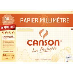 Canson Papier millimétré bistre A4 90g/m²