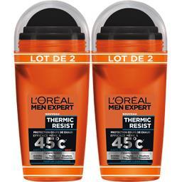 L'Oréal Men Expert de L'Oréal Anti-transpirant 48h Thermic Resist parfum Clean Cool le lot de 2 roll-on de 50 ml