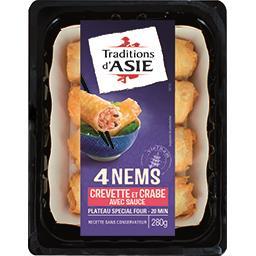 Traditions d'Asie Nems à la crevette et au crabe sauce nuoc mam