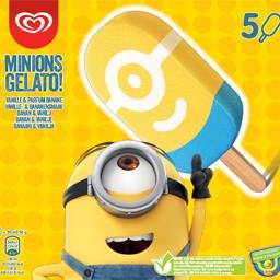 Glaces Minions Gelato vanille & parfum banane la boite de 5 - 250 g