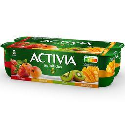 Activia - Lait fermenté au bifidus fraise abricot ki...