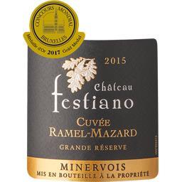 Minervois Cuvée Ramel Mazard Château Festiano, vin rouge