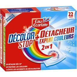 Sachet anti-décoloration + détacheur
