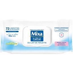 Lingettes ultra-douces au lait de toilette